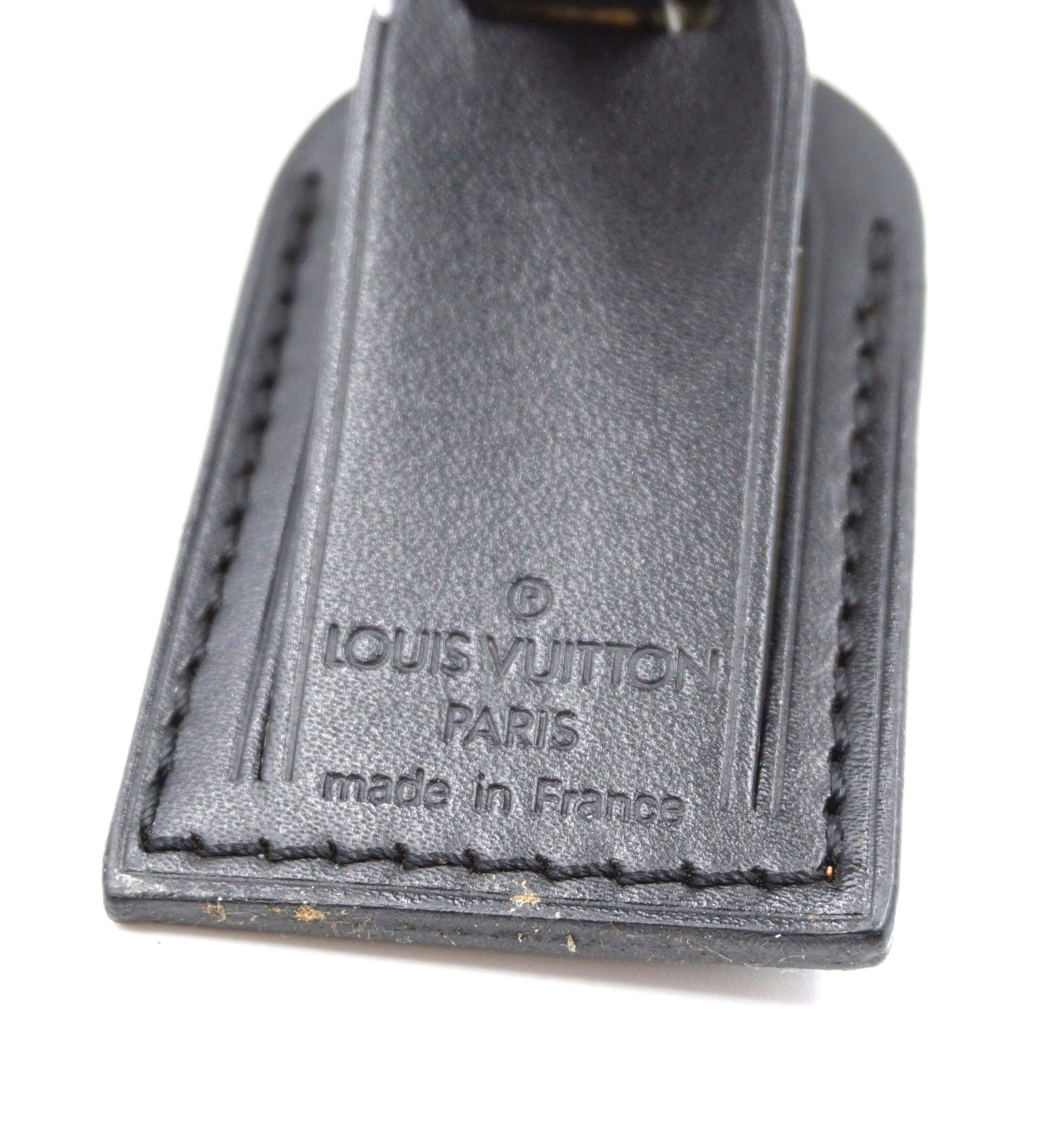Louis Vuitton Black Smooth Calf Leather Luggage Tag