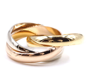 Cartier 18k 750 Trinity Ring Size 49