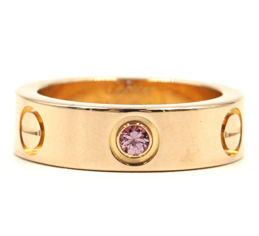 Cartier 18k 750 Sapphire 1P Love Ring Size 50
