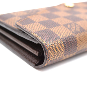 Louis Vuitton Damier Ebene Neo Sarah Long Wallet