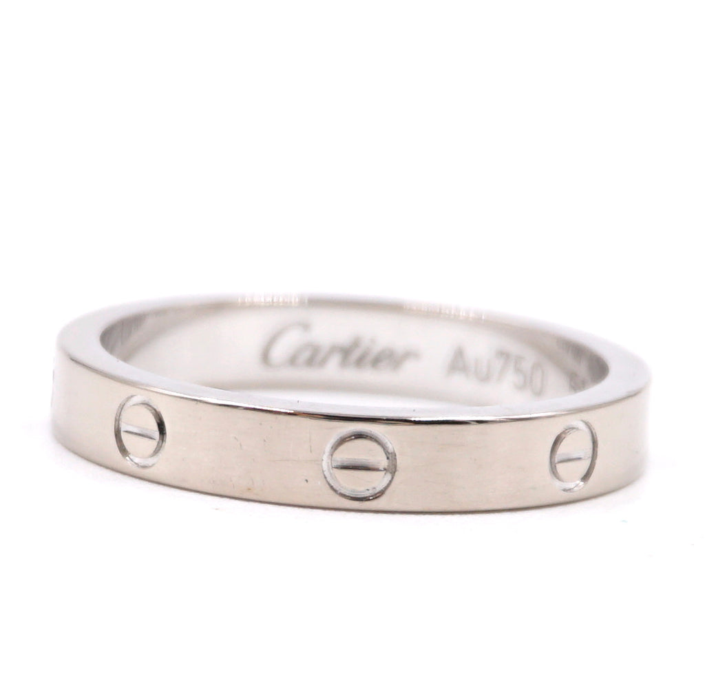 Cartier White Gold 18k 750 Love Band 2.5mm Wide Size 51