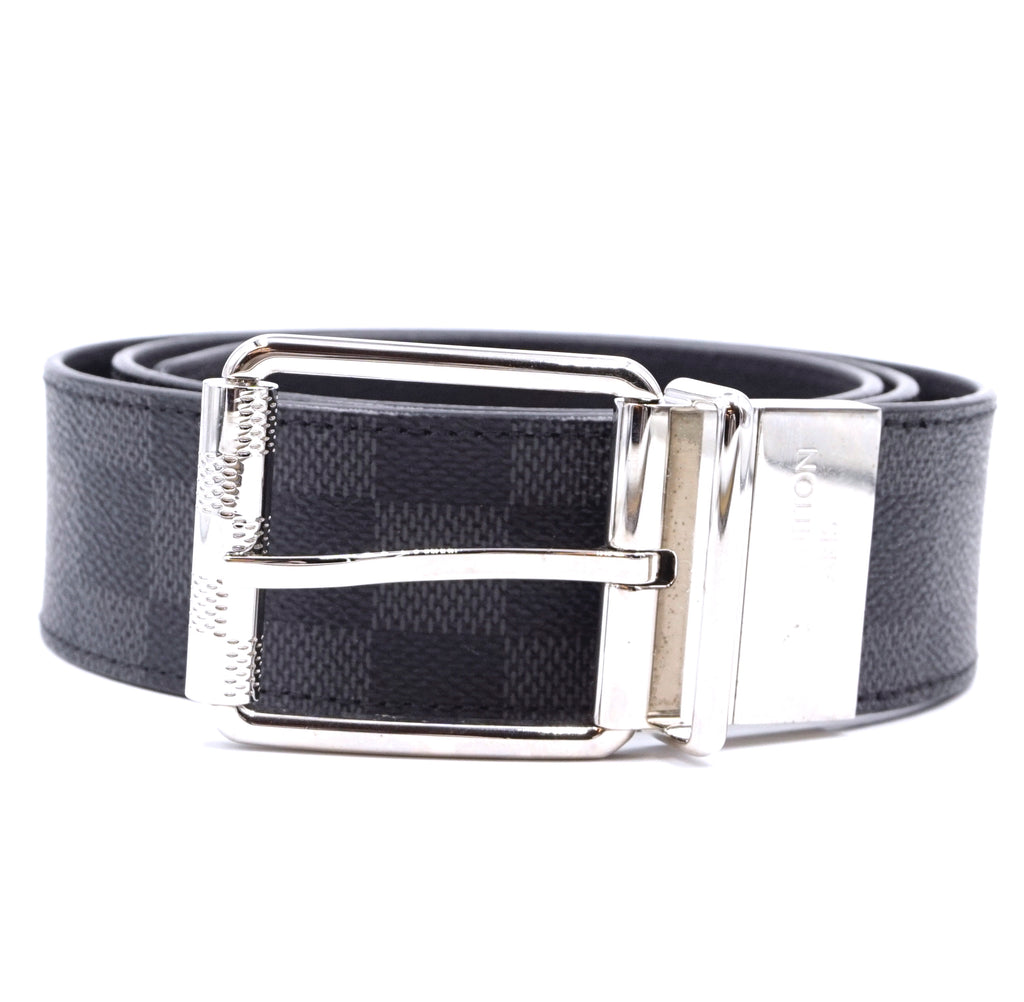 Louis Vuitton Damier Graphite 40mm Belt Size 90/36