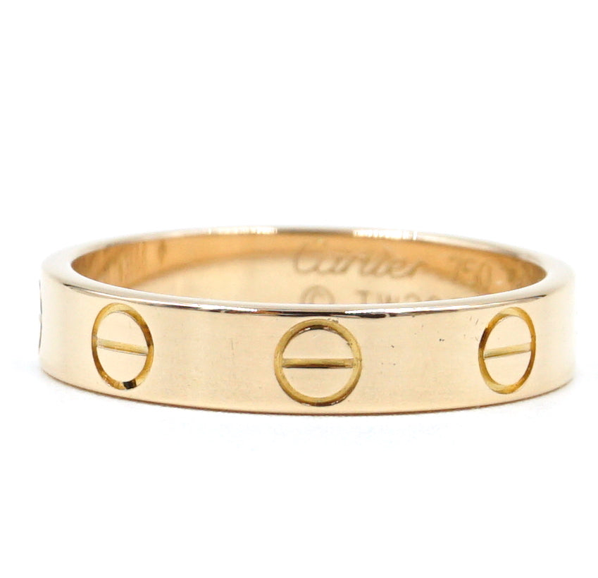 Cartier 18k Rose Gold Love Band Size 50