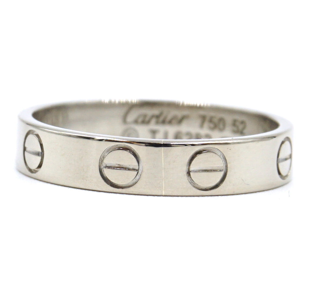 Cartier White Gold 18k 750 Love Band Size 52