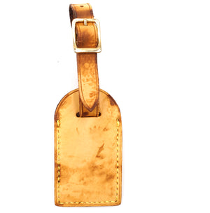 Louis Vuitton Natural Keepall Alma Leather Luggage Tag