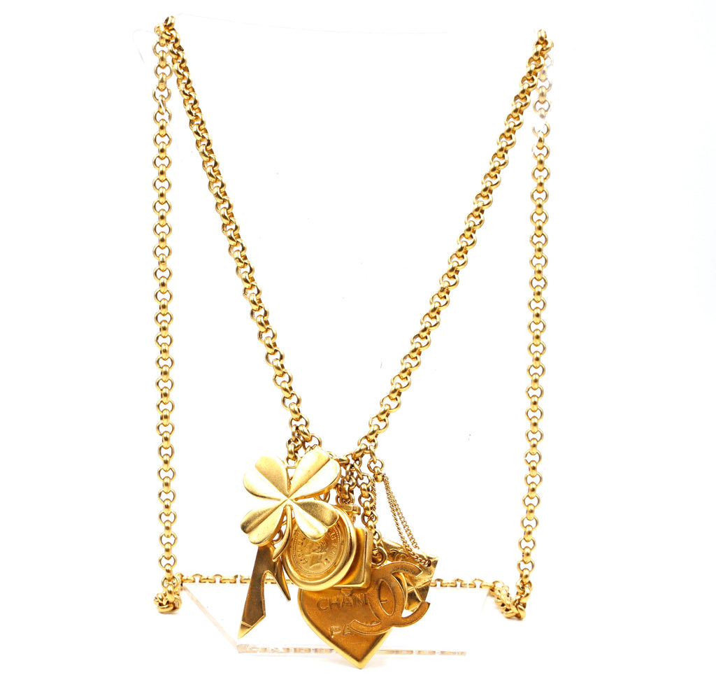 Chanel CC All Iconic Charms Long Chain Necklace