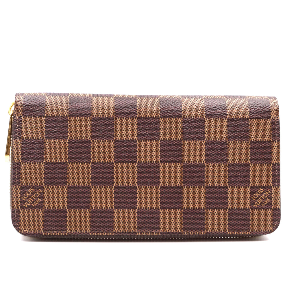 Louis Vuitton Damier Ebene Zip Around Organizer Long Wallet