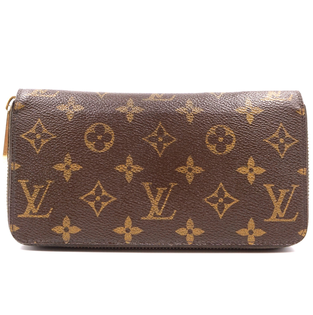 Louis Vuitton Monogram Zip Around Long Card Slots Wallet