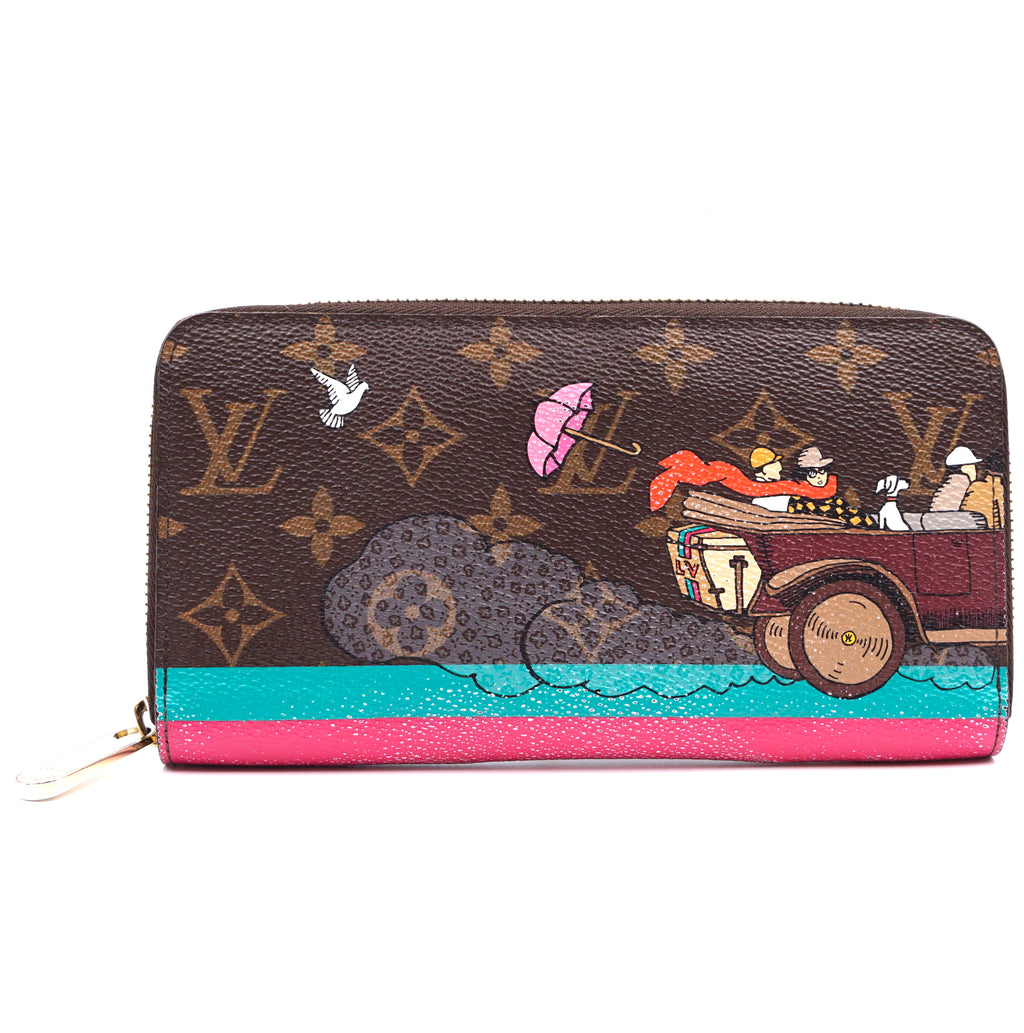 Louis Vuitton Christmas Animation Monogram Zip Around Organizer Wallet