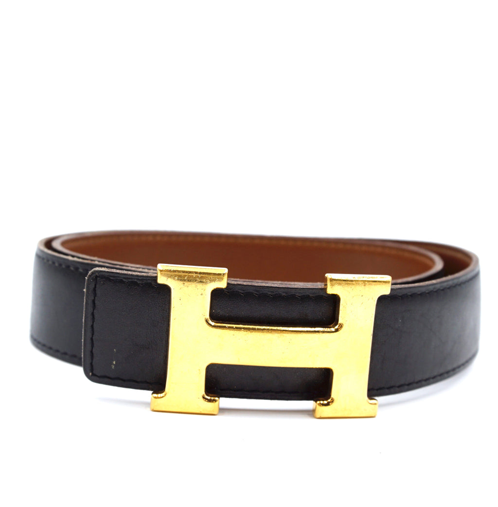Hermès 32mm Classic H Reversible Leather Size 75 Belt