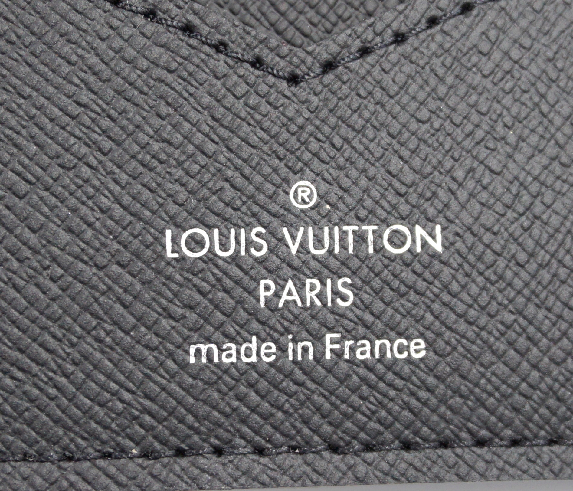 Louis Vuitton Black Monogram Organizer Bifold Wallet