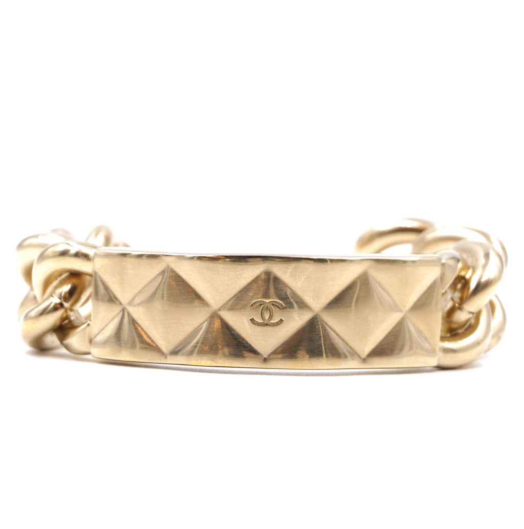 Chanel Gold CC Diamond Chain Bangle
