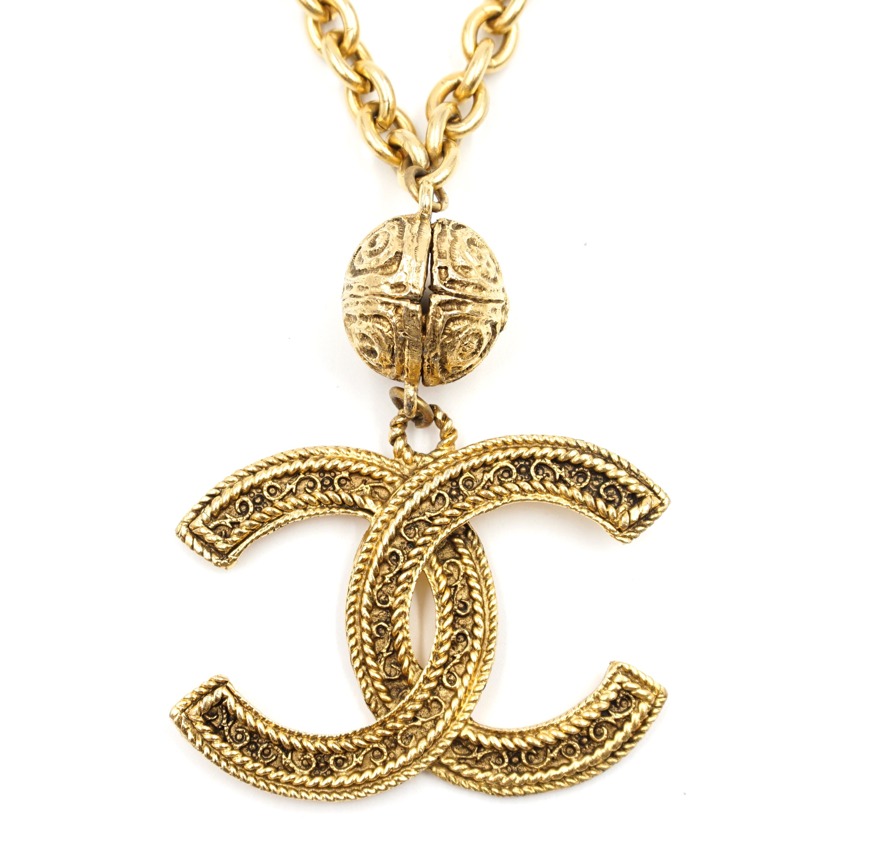 Chanel Gold CC Jumbo Chain Necklace