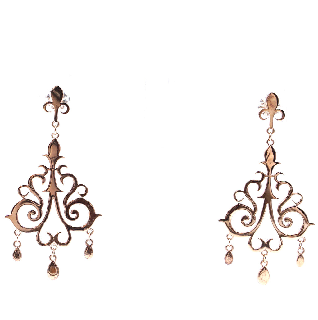 Tiffany & Co. Gold Enchant Chandelier Rubedo Dangle Earrings
