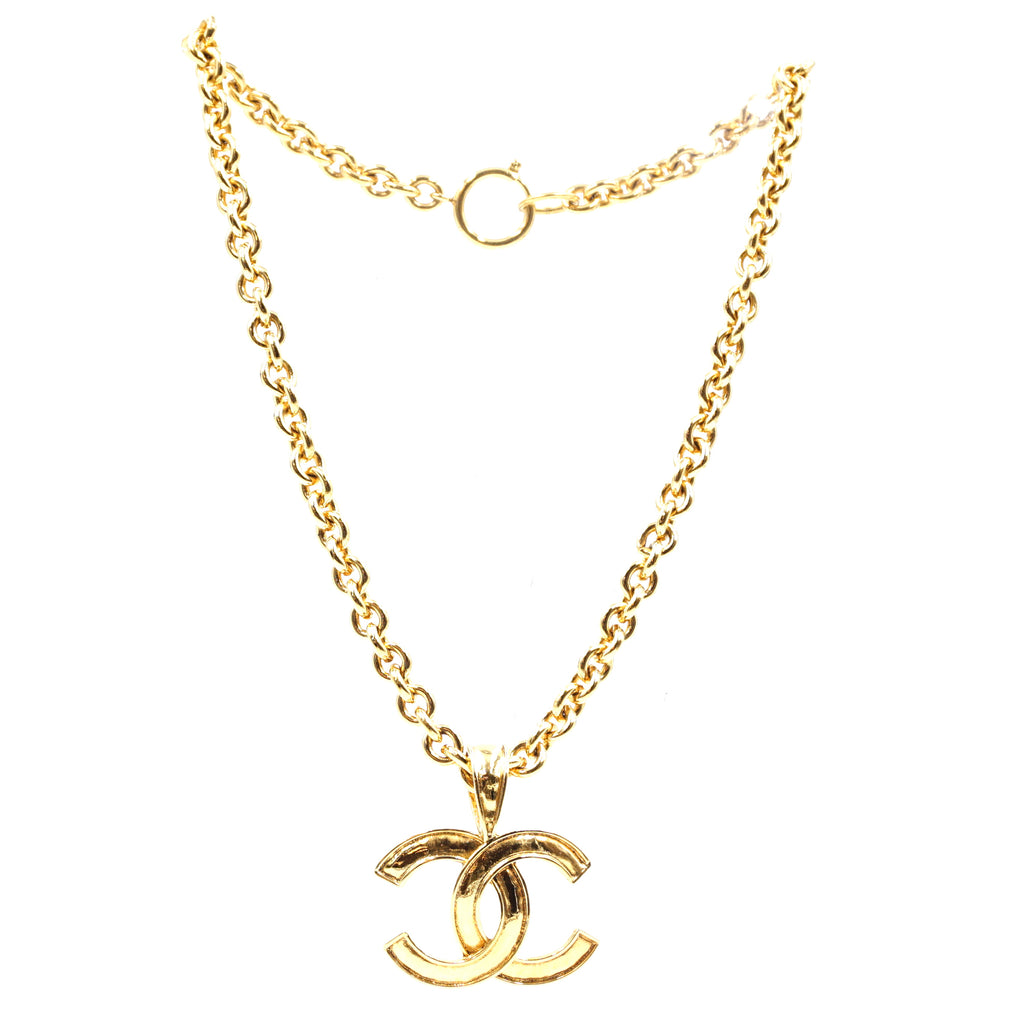 Chanel Gold CC Interlocking Chain Necklace