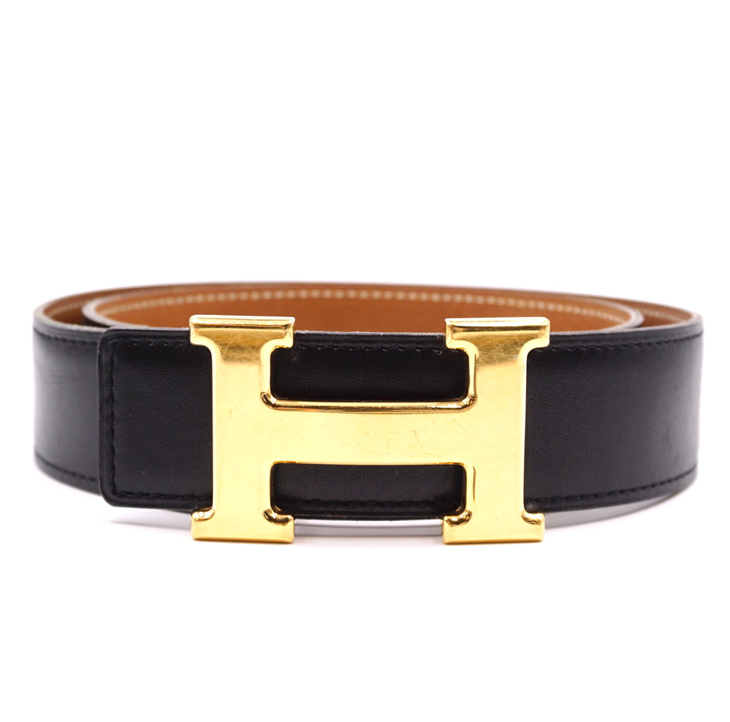 Hermès 32mm Classic H Reversible Leather Size 68 Belt
