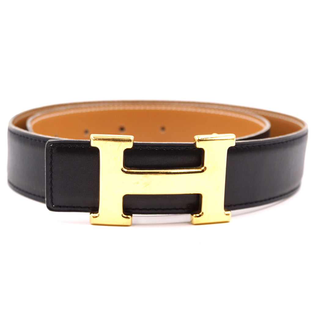 Hermès 32mm Classic H Reversible Leather Size 70 Belt
