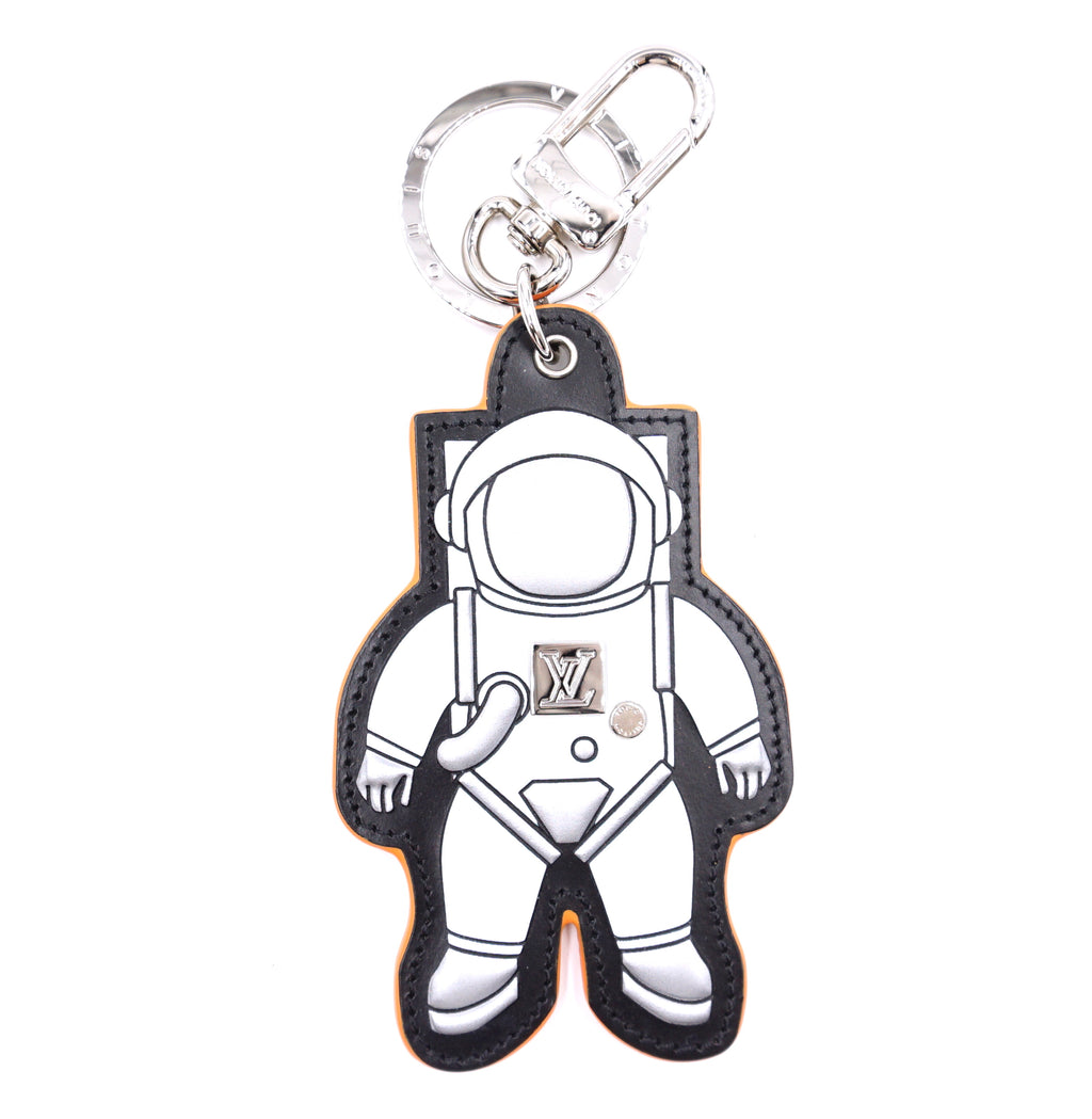 Louis Vuitton Silver Spaceman Key Ring Chain Charm