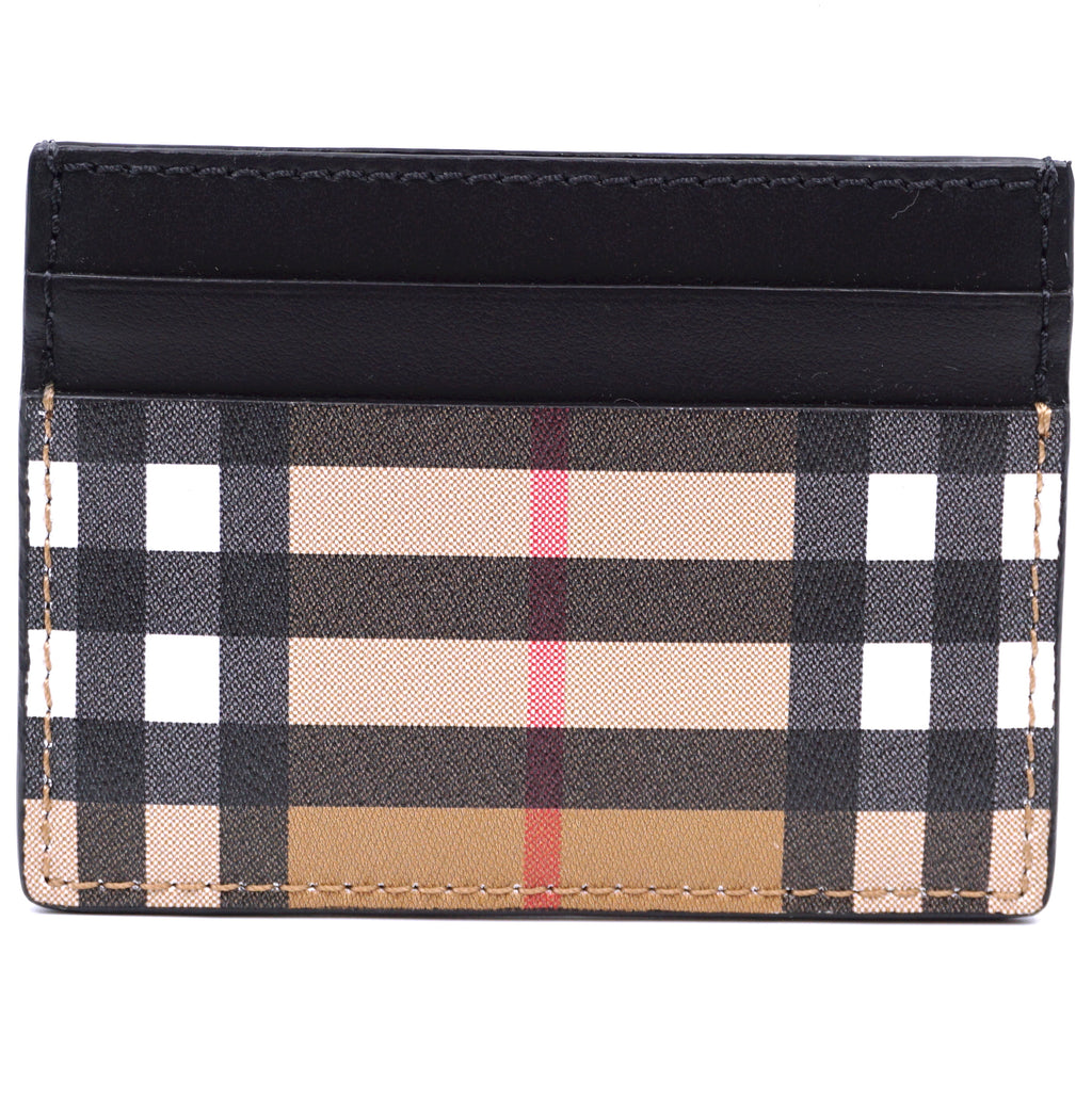 Burberry Multicolor Check Pattern Card Case Wallet