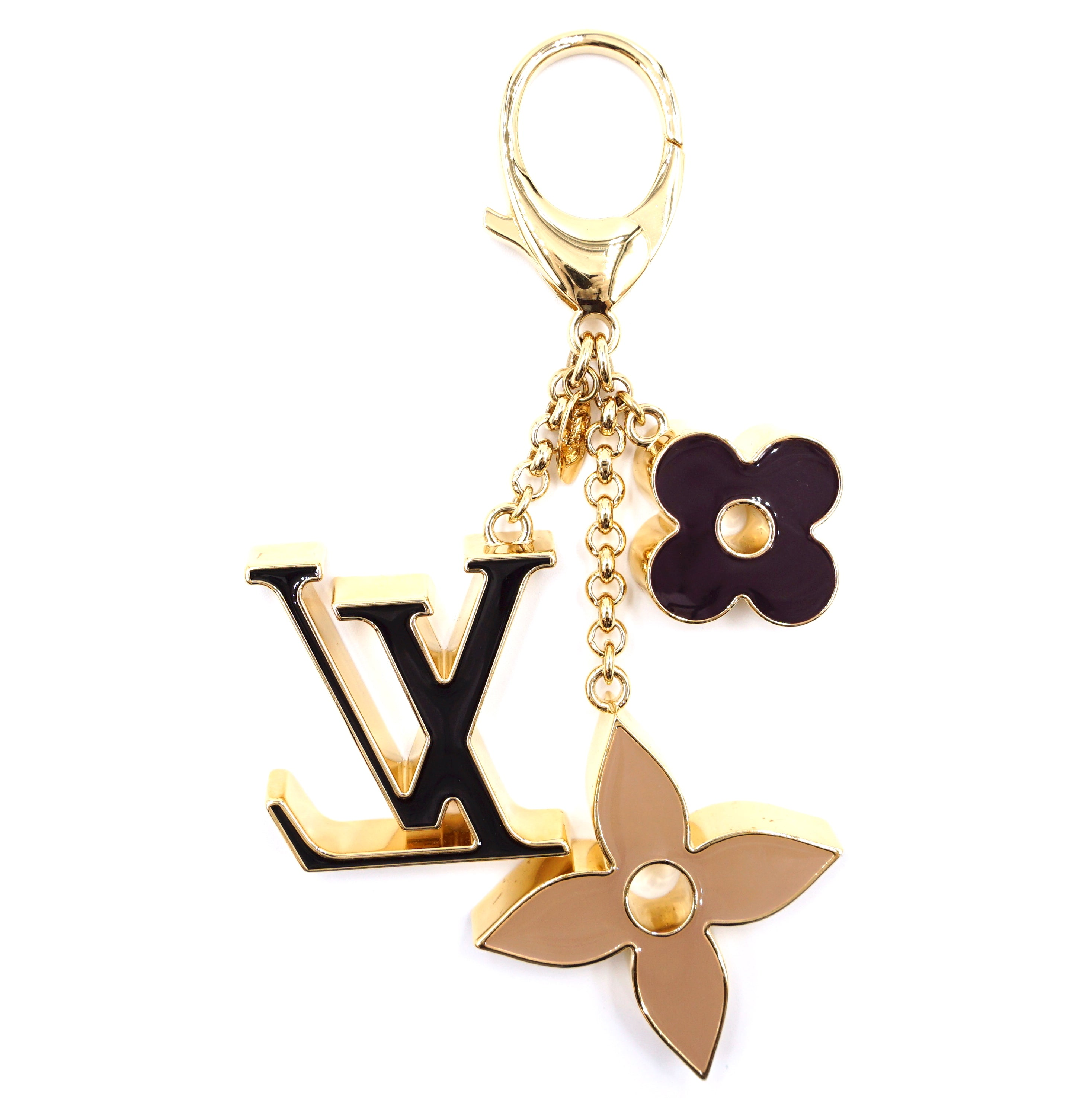 Louis Vuitton Multicolors Signature Enamel Key Chain Holder Charm