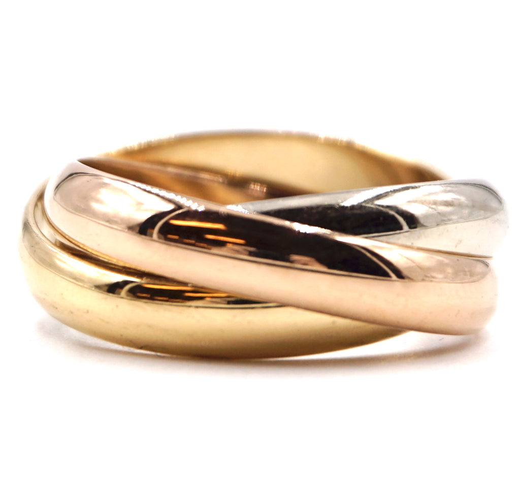 Cartier 18k 750 Trinity Ring Size 54