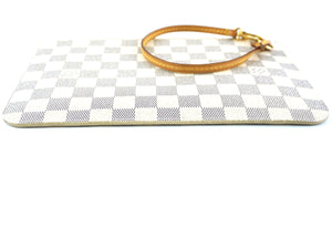Louis Vuitton Neverfull Pochette Damier Azur Canvas