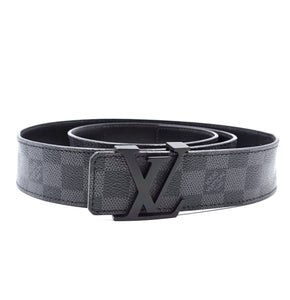Louis Vuitton Damier Graphite 40mm LV Initials Belt Size 110/44