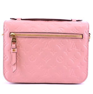 Louis Vuitton Pochette Metis Pink Monogram Empreinte Leather
