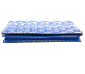 Goyard Blue Goyardine Long Bifold Wallet