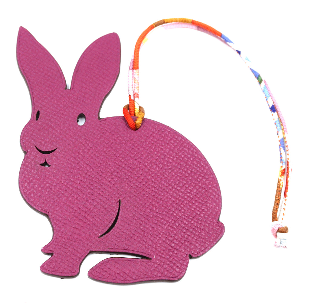 Hermès Birkin Kelly Petit H Rabbit Bunny Leather Charm