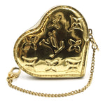 Louis Vuitton Gold Monogram Heart Coin Wallet
