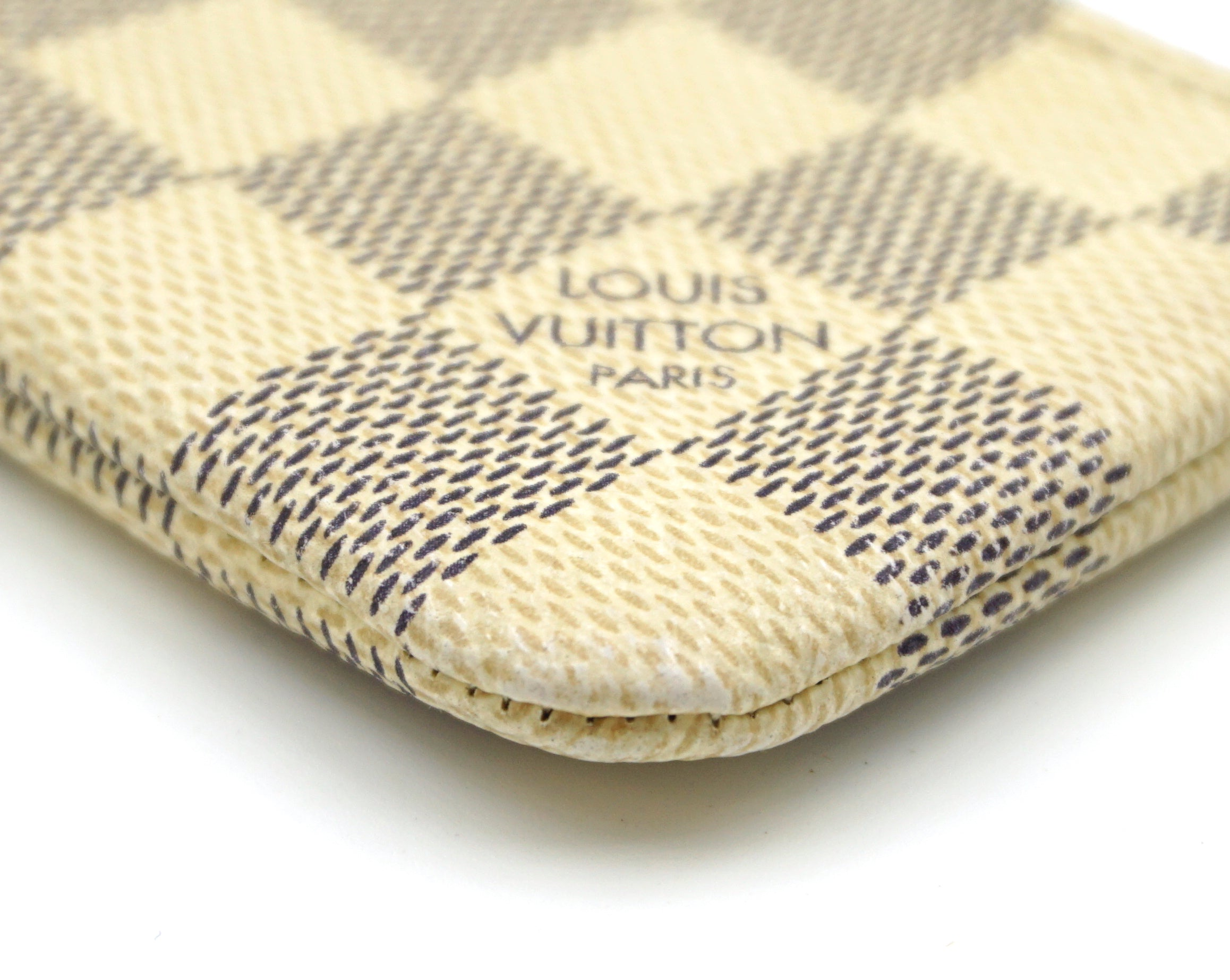 Louis Vuitton Damier Azur  Key Cles Coin Wallet
