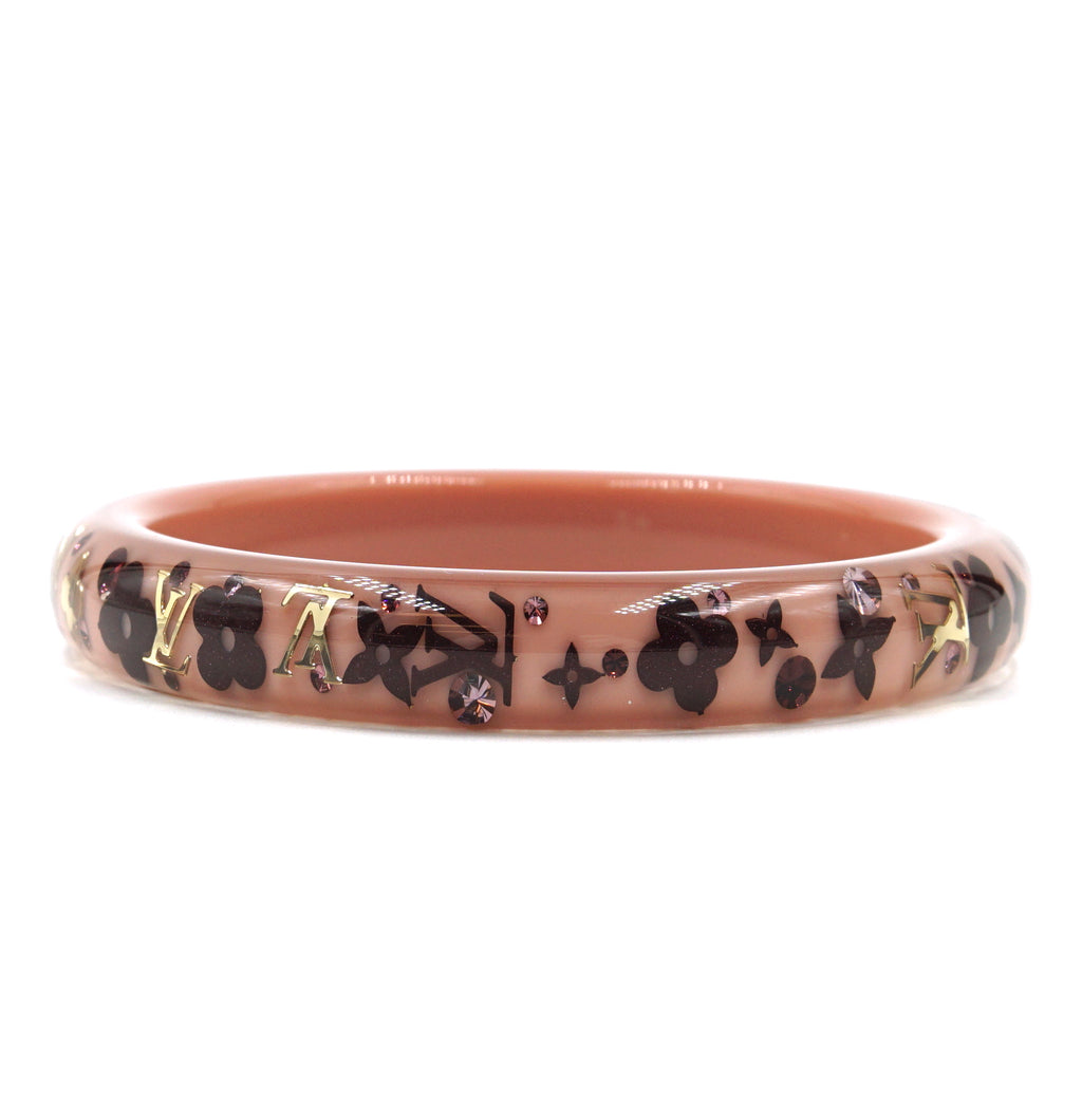 Louis Vuitton Multicolor Monogram Inclusion Flowers Bangle