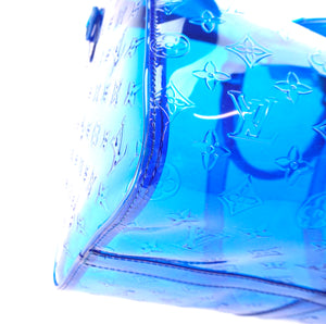 Louis Vuitton Keepall 50 Bandouliere Clear Blue PVC