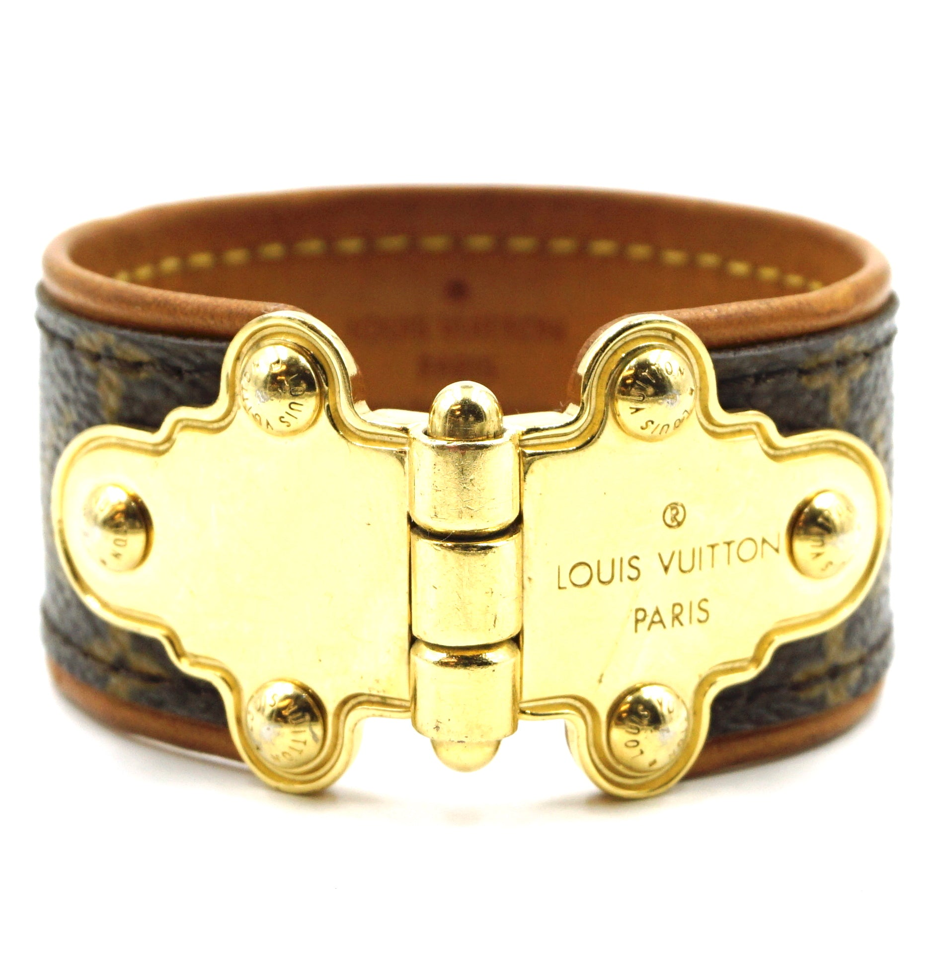 Louis Vuitton Monogram Save It Cuff Bracelet