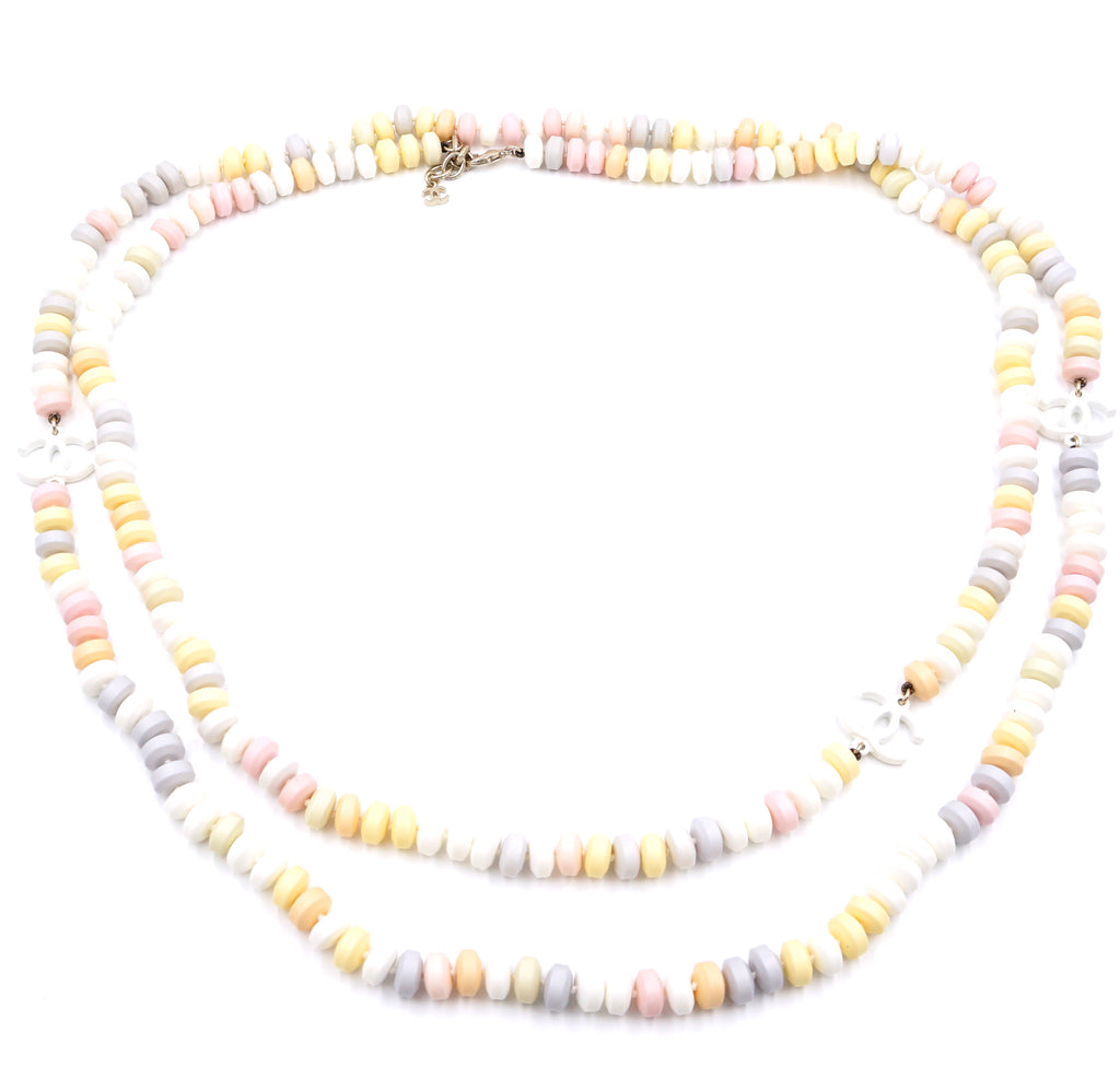 Chanel Multicolor Candy CC Pastels Long Necklace