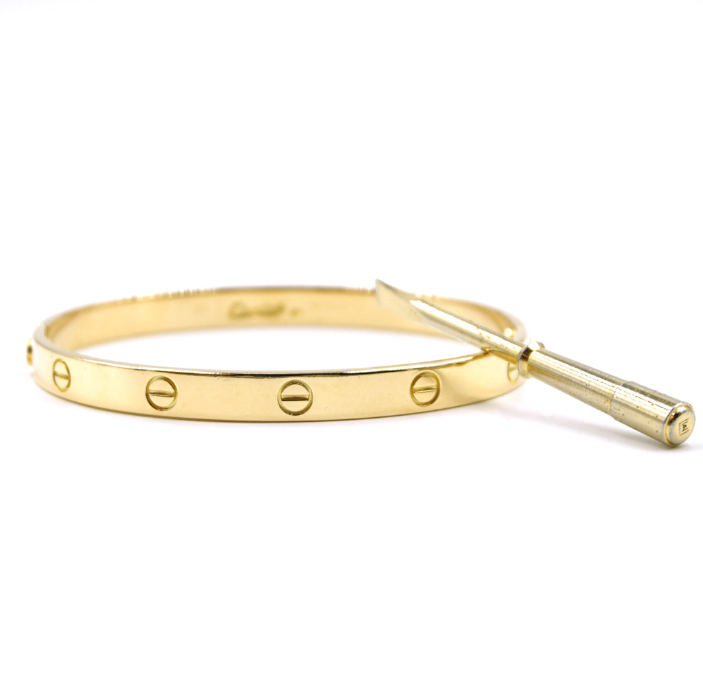 Cartier 18k 750 Love Bangle Old Screw Size 20