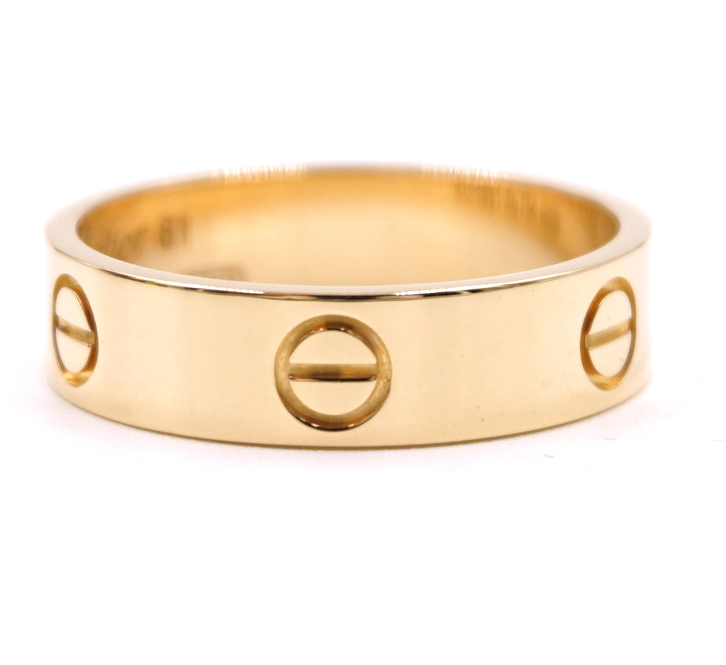 Cartier 18k Love Wide Band Ring Size 61