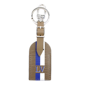 Louis Vuitton Brown Blue White Epi Tag and Key Holder Charm