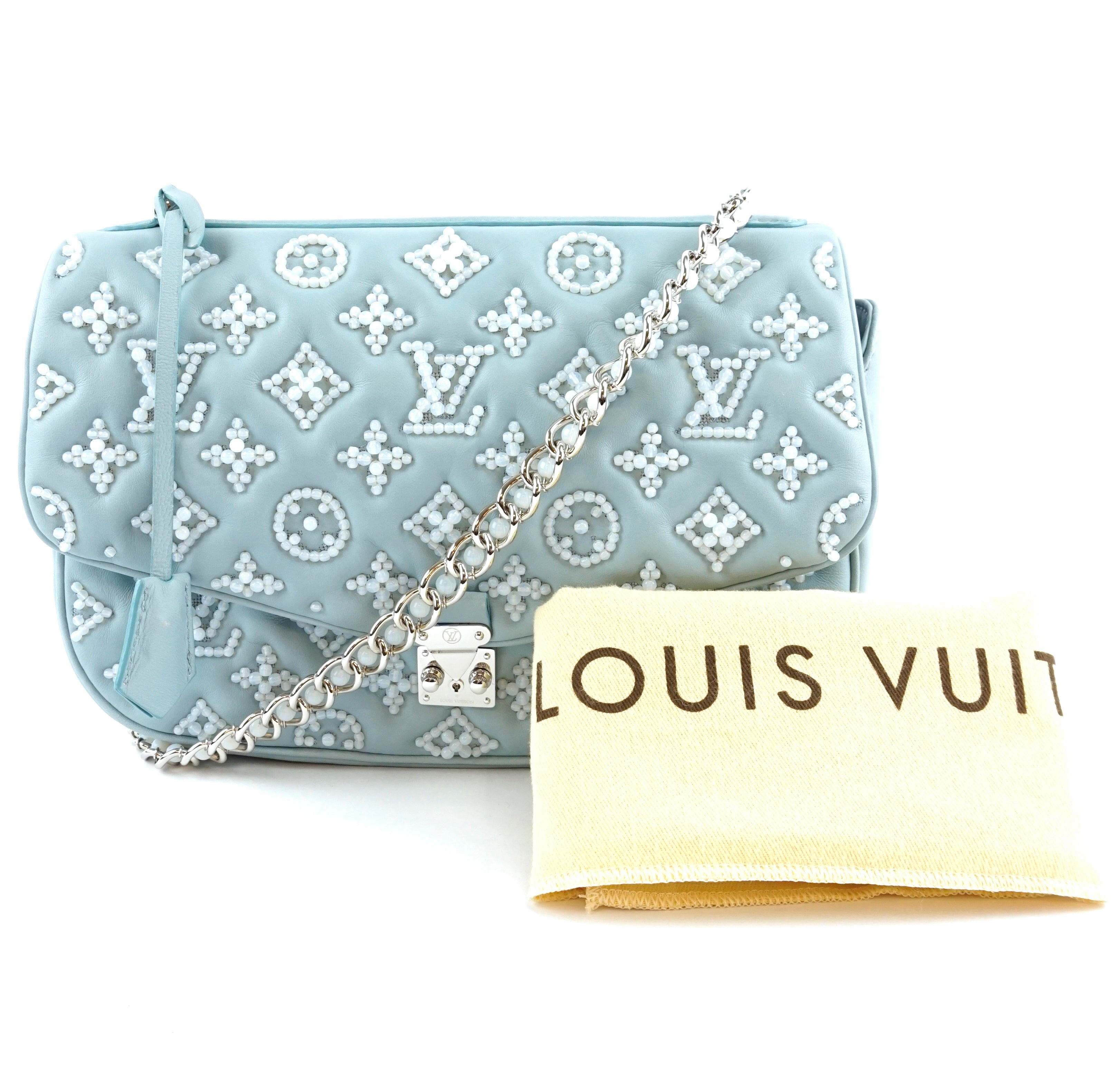 Louis Vuitton L'Extravagant L Metis Perles Baby Blue Beads Leather