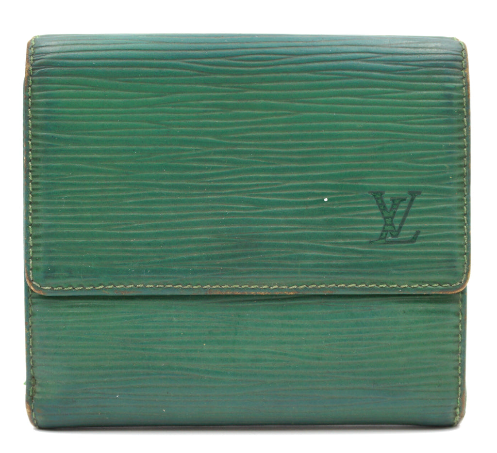 Louis Vuitton Green Epi Double Sided Wallet