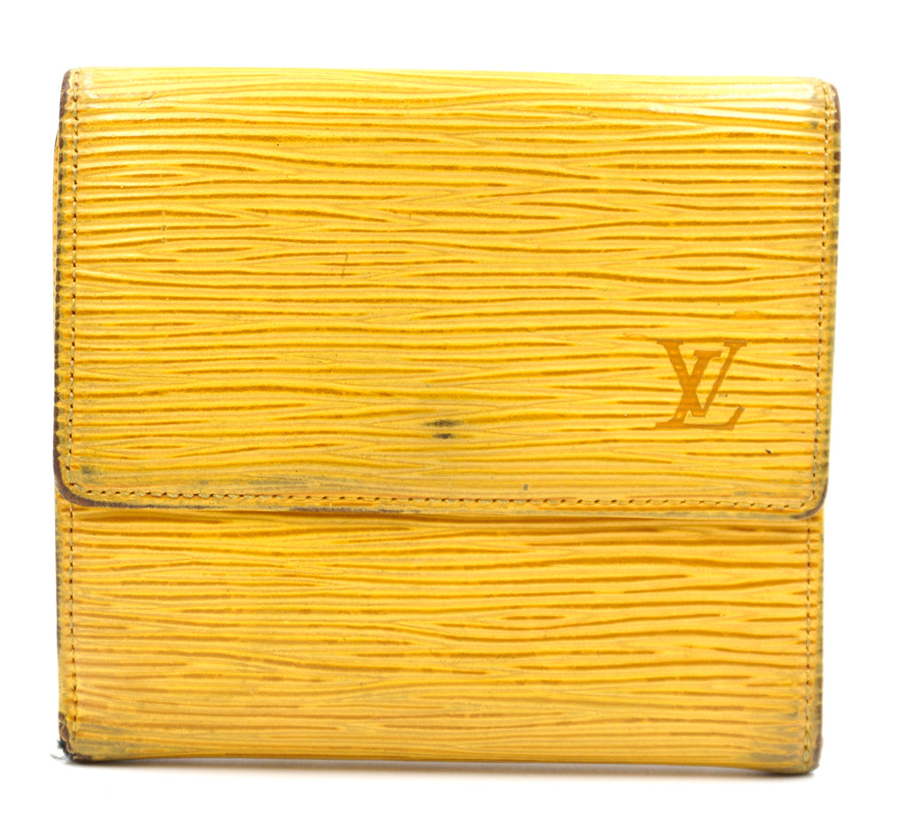 Louis Vuitton Yellow Epi Double Sided Wallet