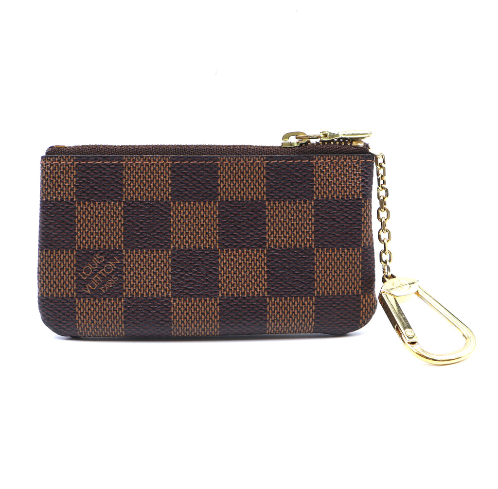 Louis Vuitton Damier Ebene Key Cles Coin Wallet