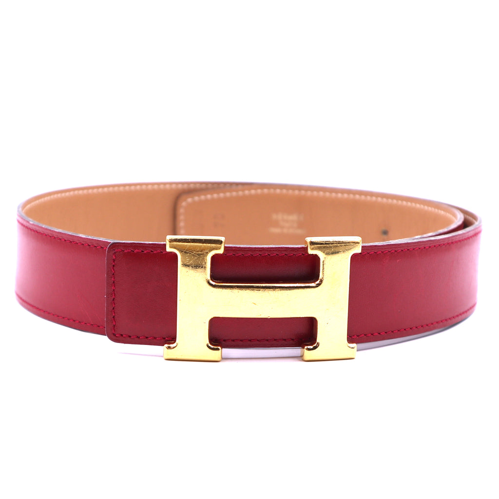 Hermès 32mm Classic H Reversible Leather Belt Size 70