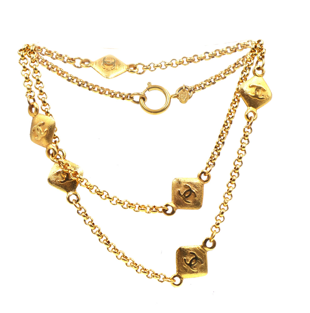Chanel Gold 6 Motif CC Charms Long Necklace