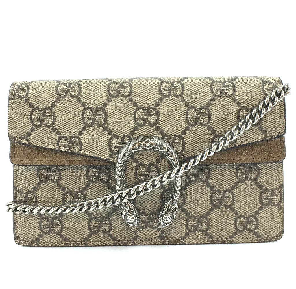 Gucci Dionysus Super Mini Brown GG Supreme Canvas