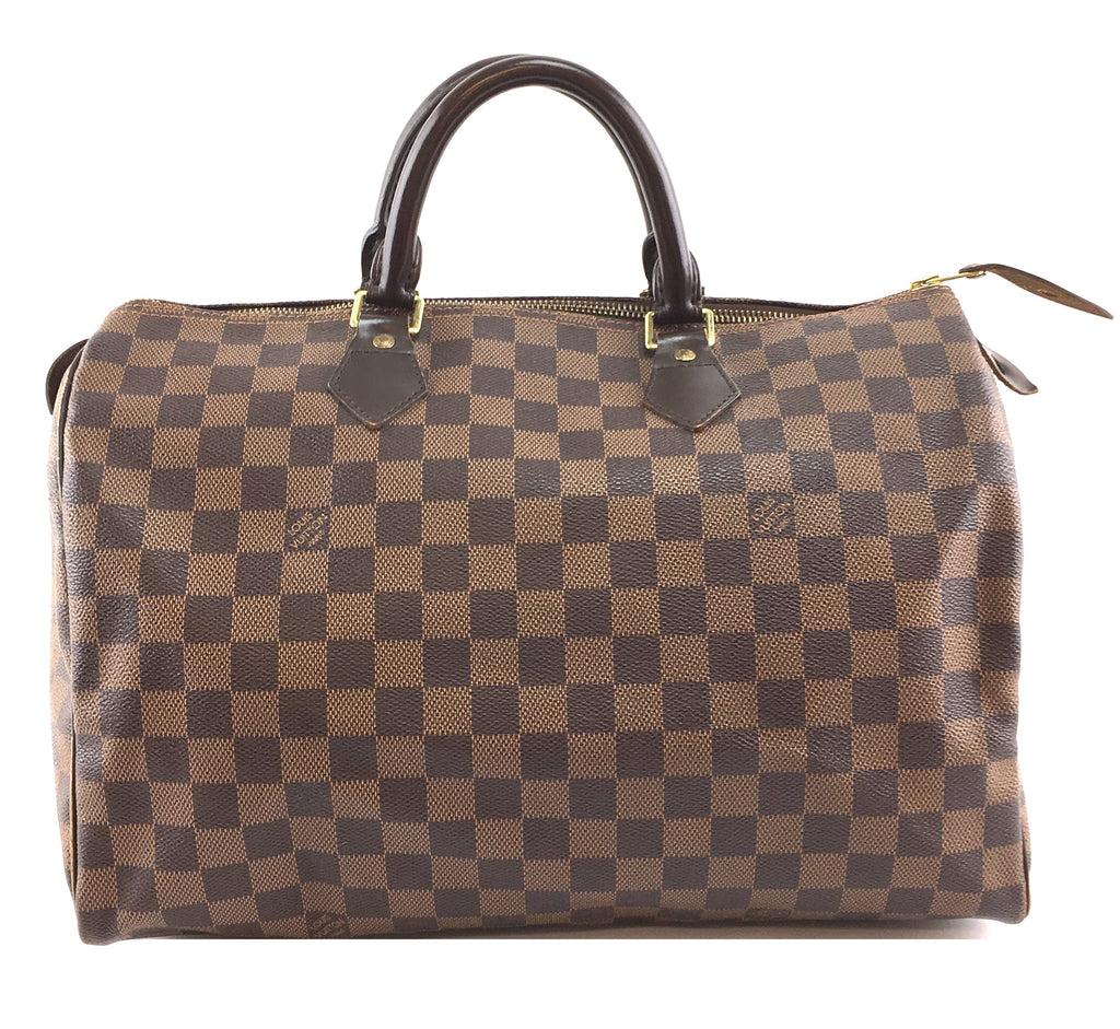 Louis Vuitton Speedy 35 Damier Ébène Canvas