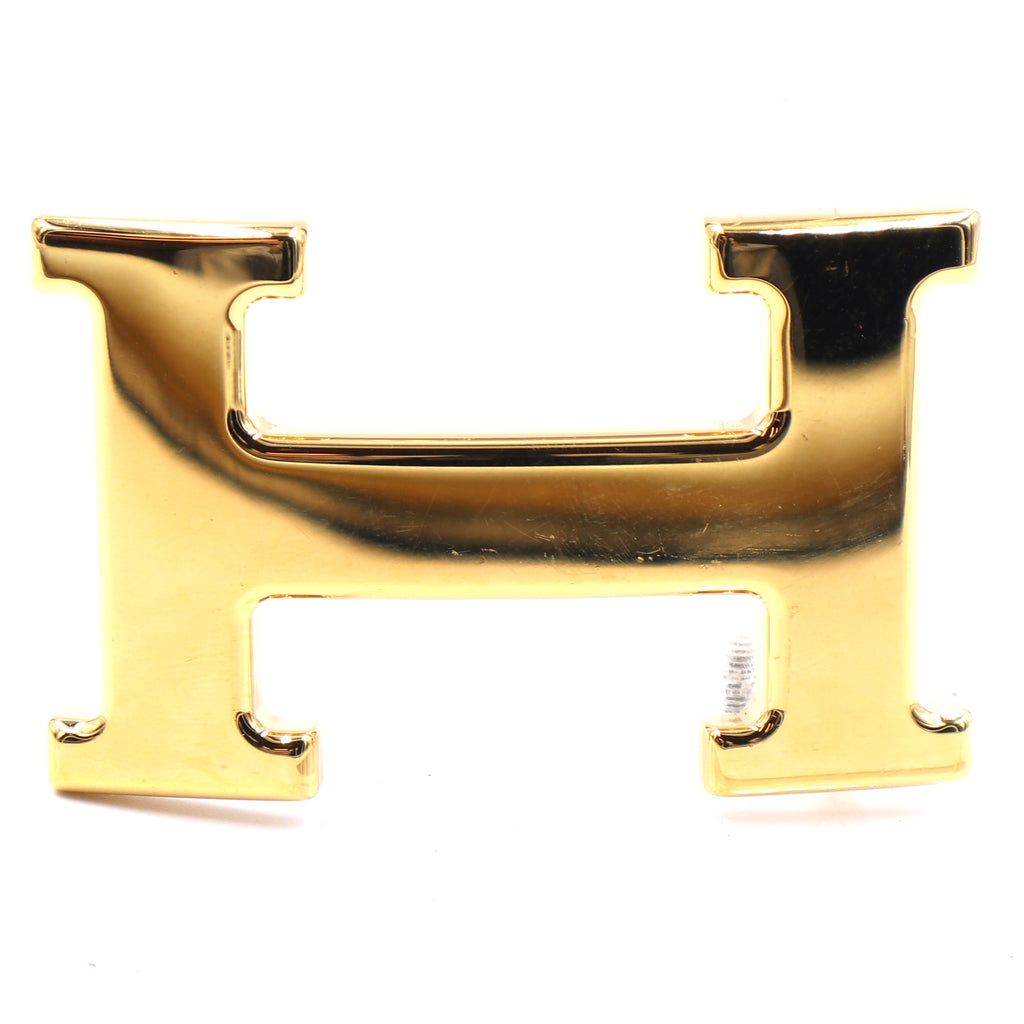 Hermès 32mm Gold Constance H Logo Buckle