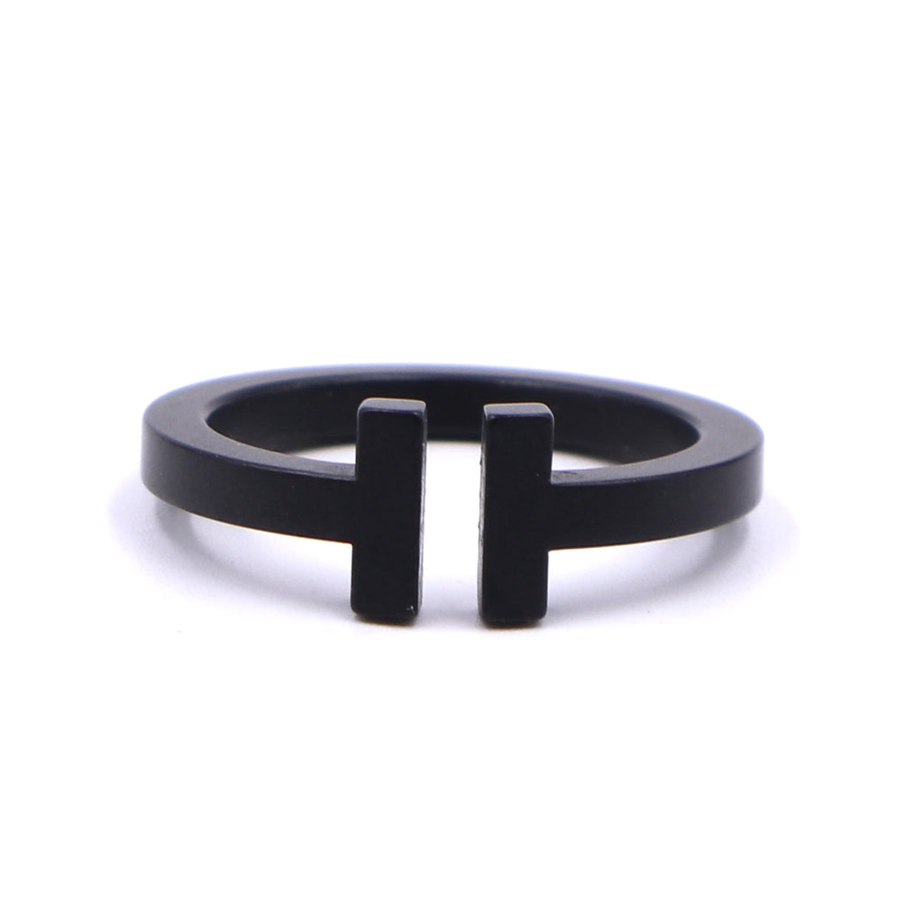 Tiffany & Co. Black T Wire Ring