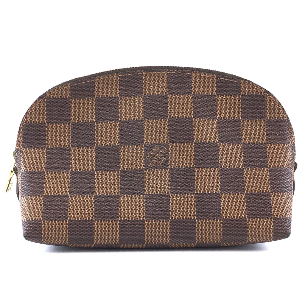 Louis Vuitton Cosmetic Pouch Damier Ébène Canvas